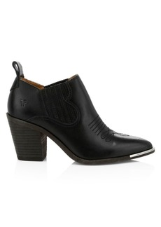 Frye Faye Western Leather Ankle Boots