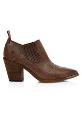 Frye Faye Western Suede Ankle Boots