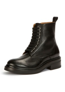 Frye Alice Combat Zip Leather Boot
