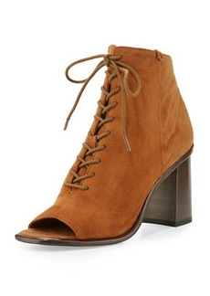 Frye Amy Open-Toe Lace-Up Bootie