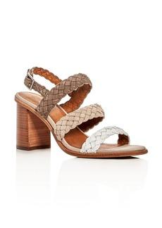 Frye Amy Tonal Braided Block Heel Sandals