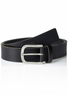 Frye and Co. Men's Heat Pressed Edge Leather Belt black