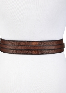 Frye And Co Wide-Overlay Leather Belt With Eyelets