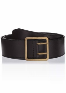 Frye and Co. Women's 2-Prong Leather Jeans Belt black S
