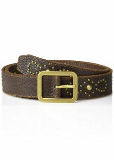 Frye and Co. Women's Crackle Leather Studded Jeans Belt  M