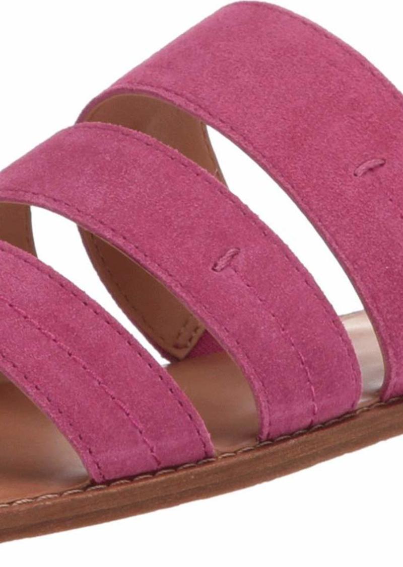 Frye and Co. Women's Evie 3 Band Slide Flat Sandal magenta  M US