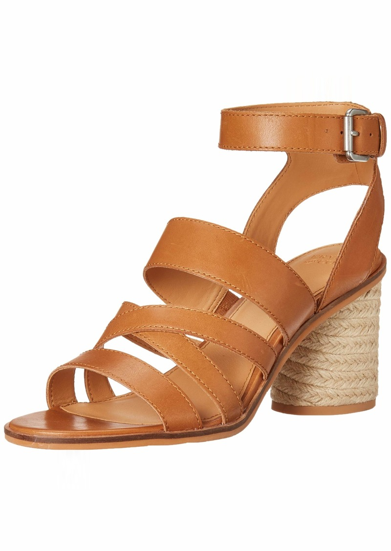 Frye and Co. Women's Leiah Mixed Strap Sandal Heeled   M US