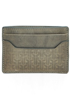 Frye Austin Leather Money Clip Card Case