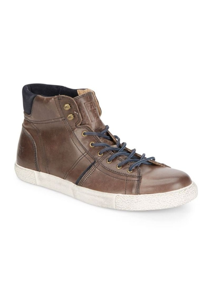 Frye Bedford Leather High-Top Sneakers