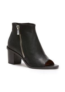 Frye Brielle Leather Peep Toe Booties