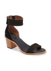 Frye Brielle Scallop Back Zip Sandal (Women)