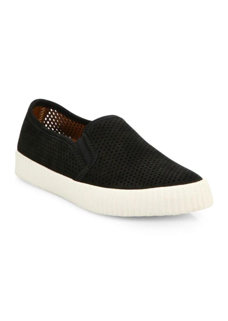 Frye Camille Perforated Nubuck Skate Sneakers