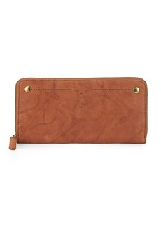 Frye Campus Rivet Zip Wallet