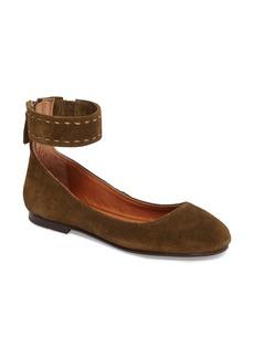 Frye Carson Ankle Strap Ballet Flat (Women)