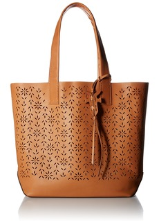 FRYE Carson Floral Perf Tote Light tan