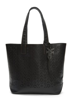 FRYE Carson Floral Perf Tote black