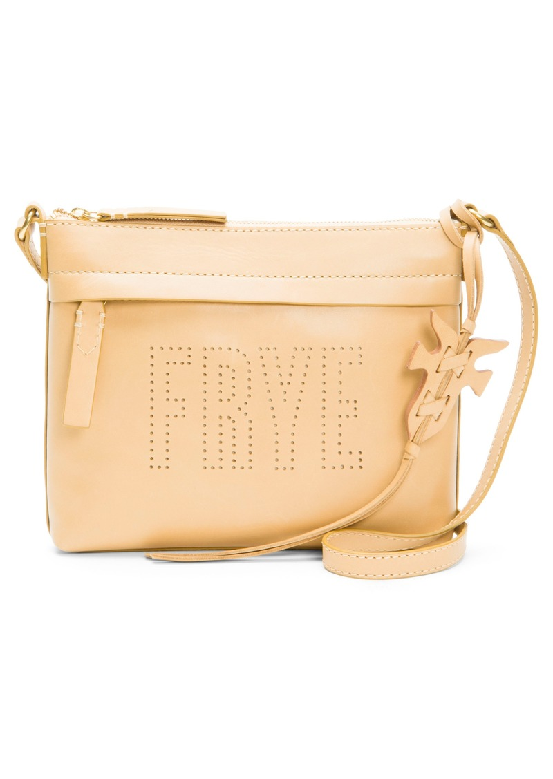 b4d897429efb83 Frye Frye Carson Perforated Logo Leather Crossbody Bag   Handbags