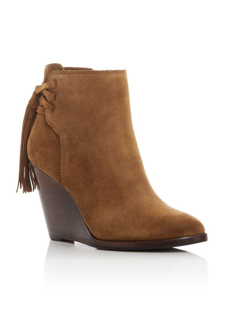 a4c4f92e5b49 Cece Tassel Lace Wedge Booties. Frye