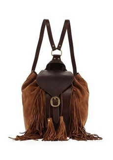 Frye Clara Suede Fringe Backpack