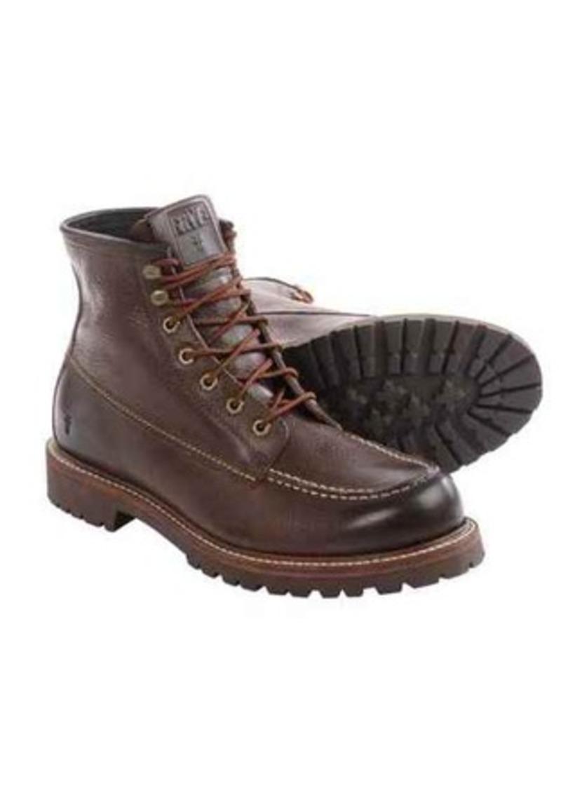 frye frye dakota mid lace boots leather for