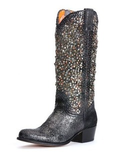 Frye Deborah Deco Studded Vintage Leather Boot