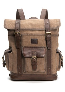 Frye Ethan Canvas & Leather Backpack
