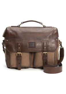 Frye Ethan Canvas & Leather Briefcase