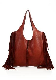Frye Farrah Fringed Leather & Suede Shoulder Bag