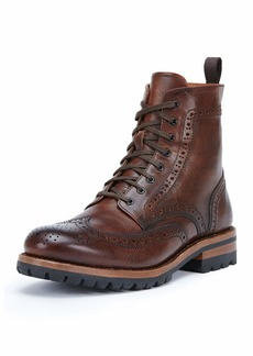 Frye George Lugged Brogue Lace-Up Boot