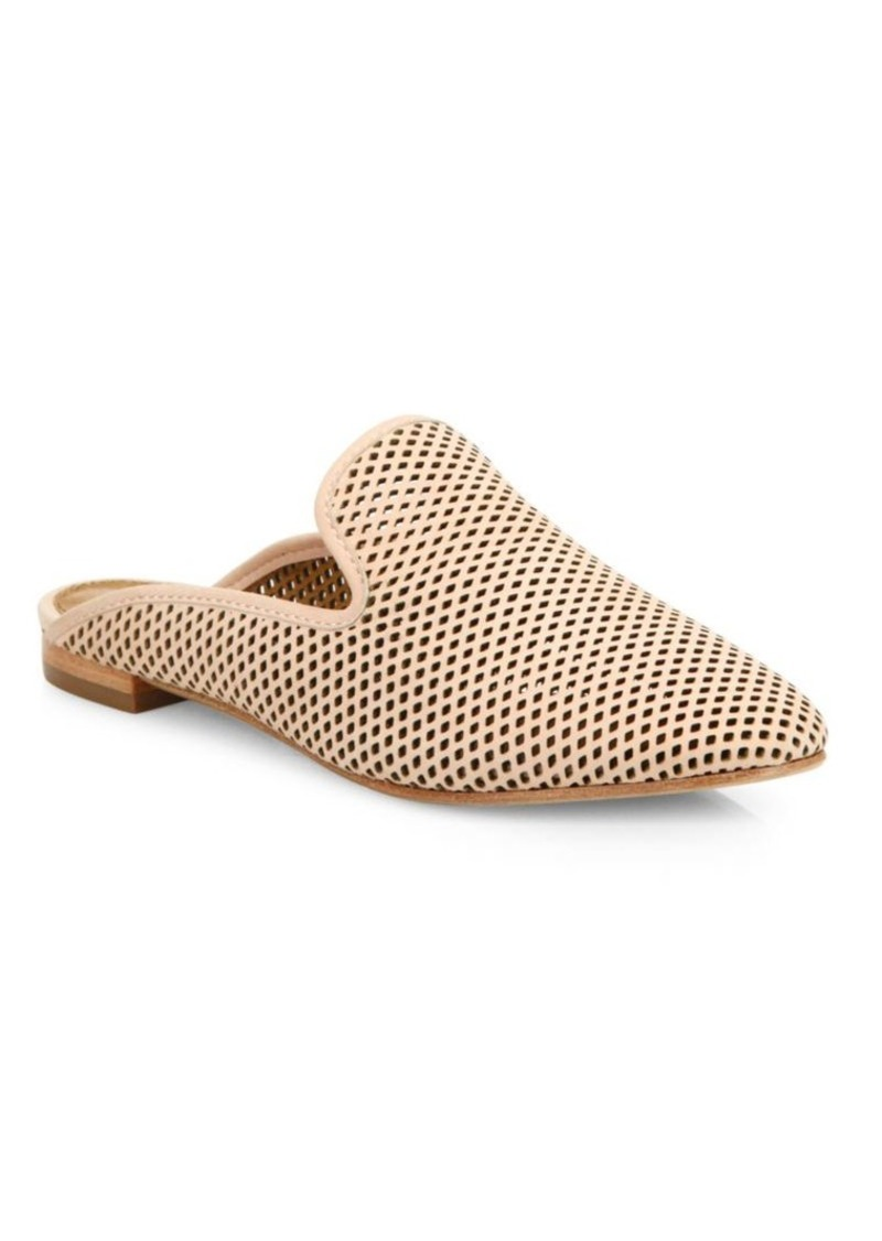 Frye Gwen Perforated Leather Flat Mules