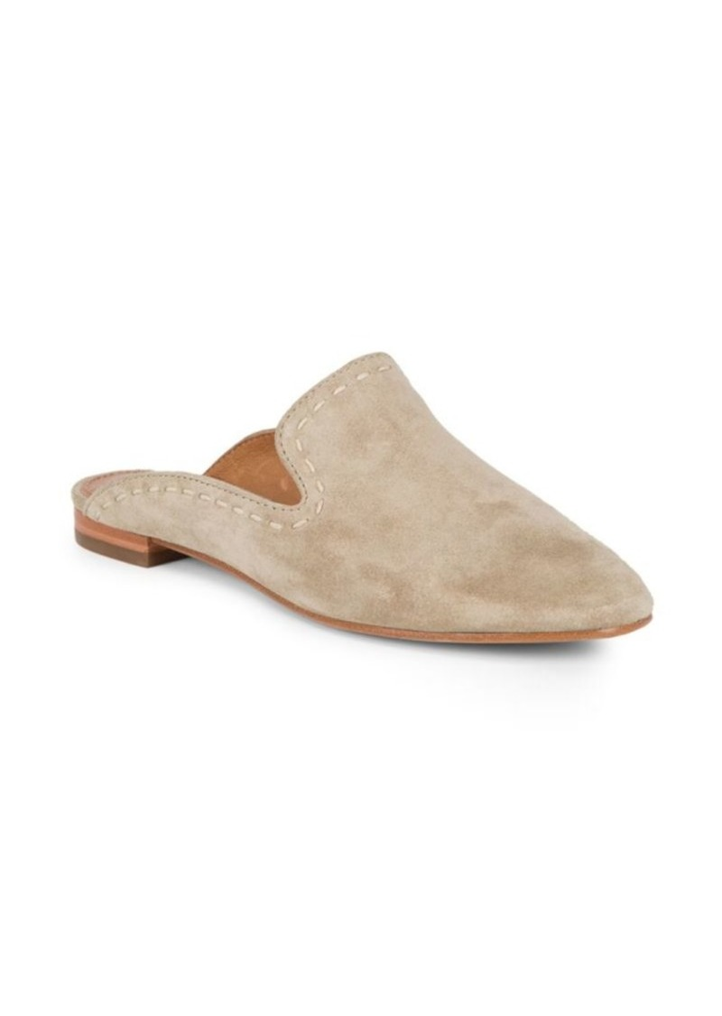 Frye Gwen Pickstitch Suede Mules