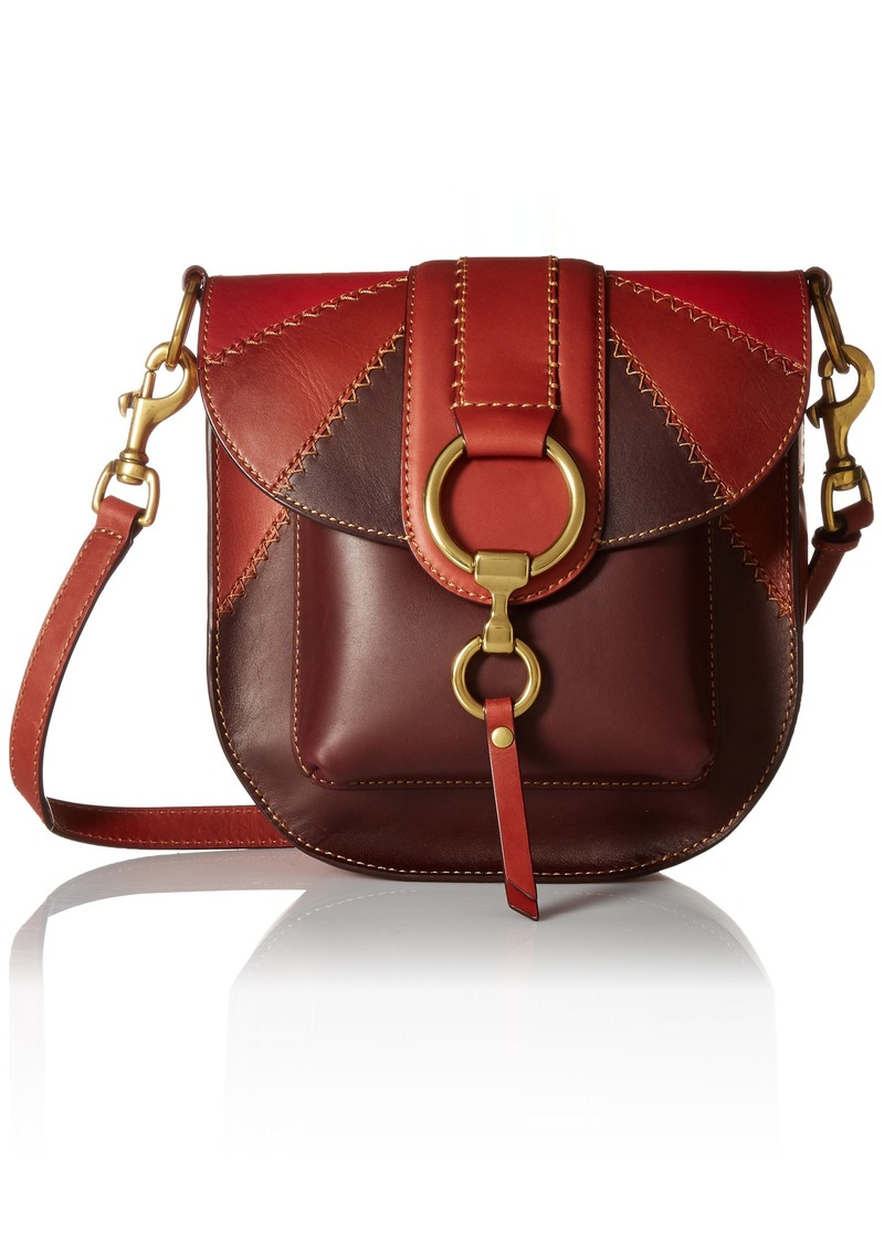FRYE Ilana Color Block Saddle Crossbody Leather Bag