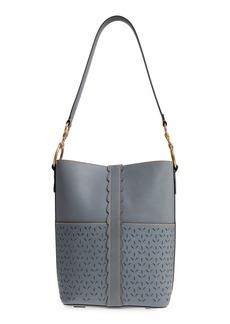 Frye Ilana Perforated Leather Bucket Hobo