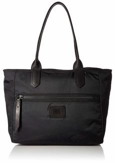 FRYE Ivy Nylon Zip Tote Handbag matte black