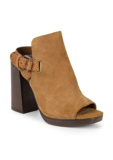 Frye Karissa Braid Shield Suede Mules