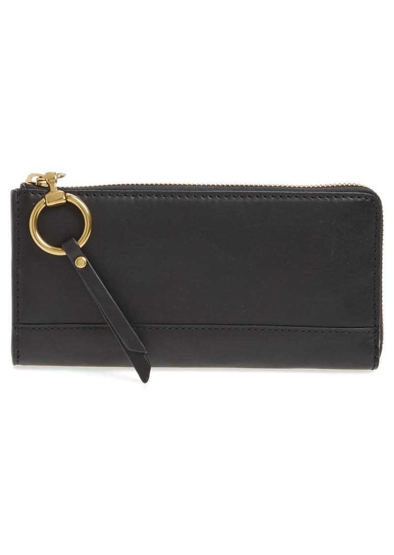 Frye Frye Large Ilana Harness Leather Zip Wallet   Handbags
