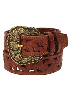 Frye Laser Cut Western Leather Belt