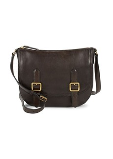 Frye Leather Top-Zip Crossbody Bag