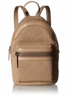 FRYE Lena Leather Perf Backpack taupe