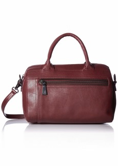 FRYE Lena Zip Leather Satchel Bag