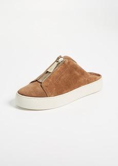 Frye Lena Zip Mule Suede Sneakers
