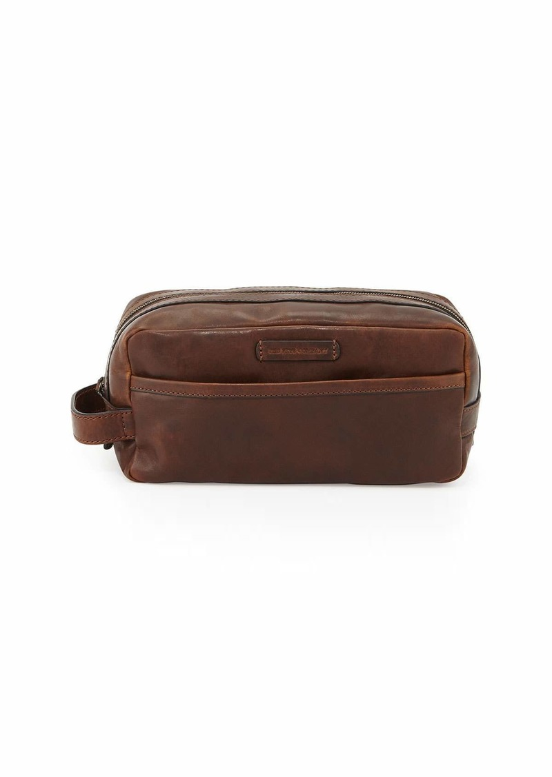 Frye Logan Leather Travel Kit  Dark Brown