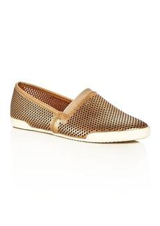 Frye Melanie Metallic Perforated Slip-On Sneakers