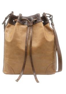 Frye Melissa Leather Drawstring Hobo Bag