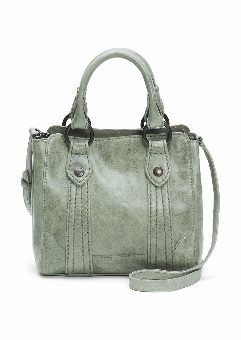 FRYE Melissa Mini Leather Crossbody Tote Bag fern