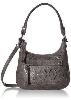 FRYE Melissa Studded Zip Hobo Crossbody Handbag slate