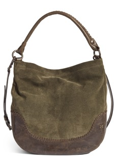 Frye Melissa Suede & Whipstitch Leather Hobo
