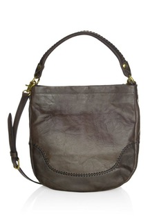 Frye Melissa Whipstitch Leather Hobo Bag