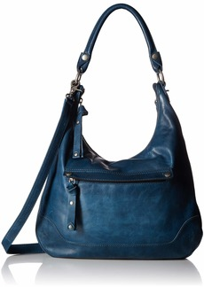 FRYE Melissa Zip Leather Hobo Handbag peacock