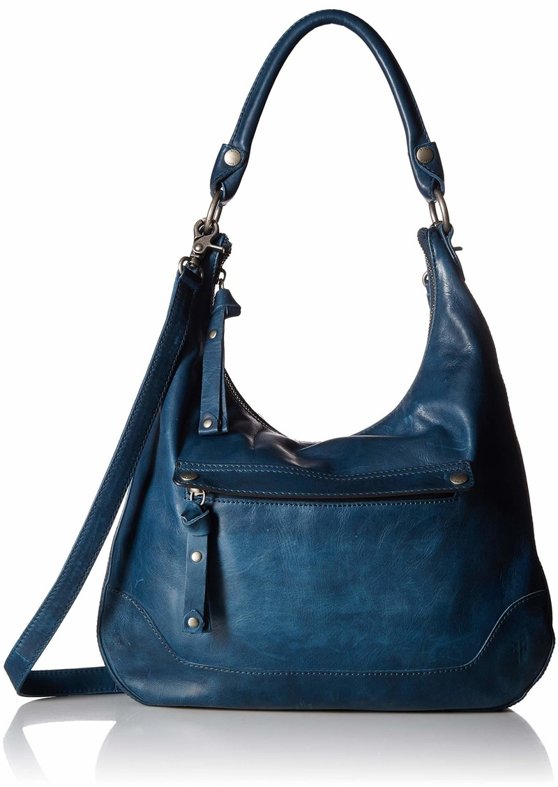FRYE Melissa Zip Leather Hobo Handbag peacock